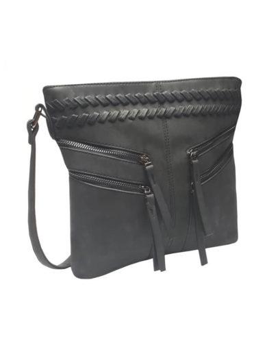 Stylová crossbody kabelka Tapple OS16012 černá přední strana