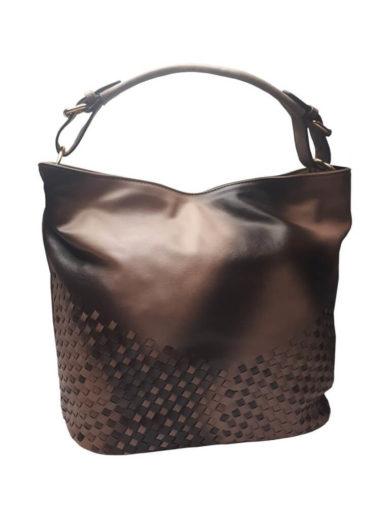 Unikátní kombinovaná kabelka Tapple 3091 středně hnědá přední strana