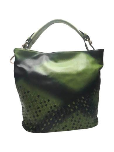 Unikátní kombinovaná kabelka Tapple 3091 středně zelená přední strana