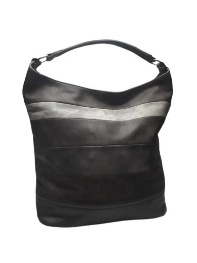 Velká kabelka z jemné eko kůže Tapple H17136 tmavě šedá přední strana