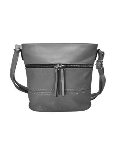 Crossbody kabelka s moderním vzorem Tapple H1774 středně šedá přední strana
