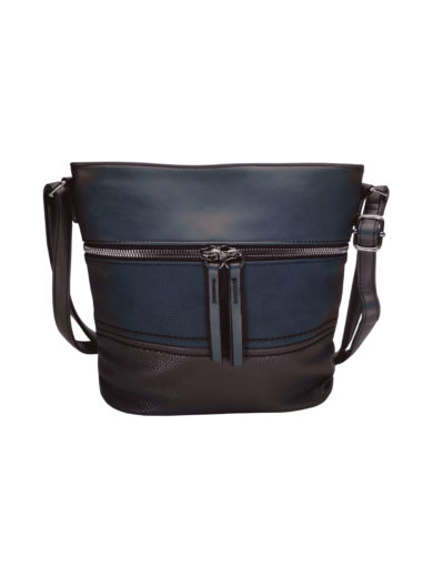 Crossbody kabelka s moderním vzorem Tapple H1774 tmavě modrá přední strana
