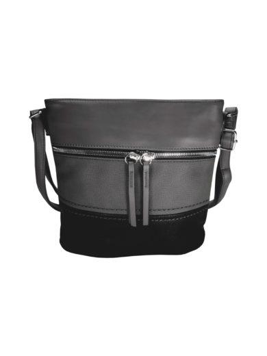 Crossbody kabelka s moderním vzorem Tapple H1774 tmavě šedá přední strana