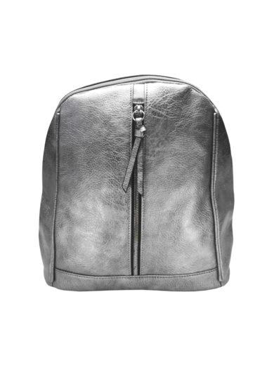 Elegantní dámský batoh z eko kůže Tapple H17438 stříbrný přední strana