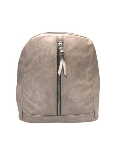 Elegantní dámský batoh z eko kůže Tapple H17438 světle hnědý přední strana