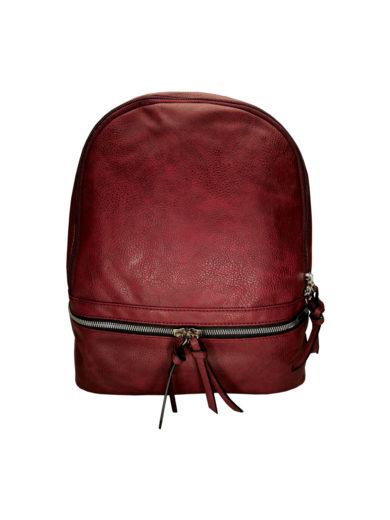 Moderní dámský batoh Tapple H17388 bordó přední strana