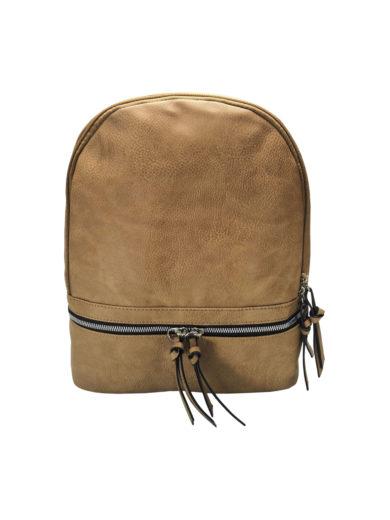 Moderní dámský batoh Tapple H17388 středně hnědý přední strana