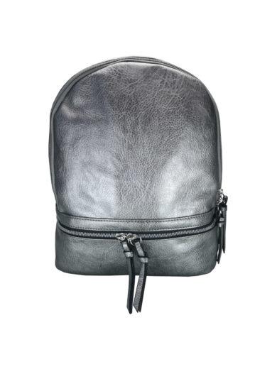 Moderní dámský batoh Tapple H17388 stříbrný přední strana