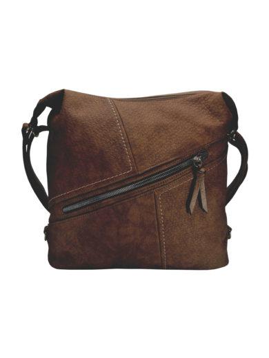 Velký dámský kabelko-batoh z eko kůže Tapple H18077 tmavě hnědý přední strana