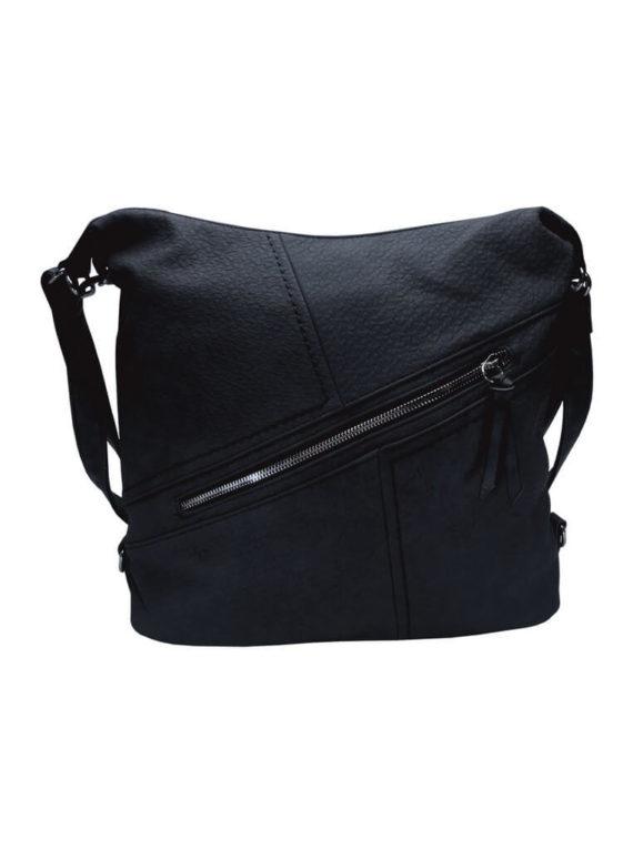 Velký dámský kabelko-batoh z eko kůže Tapple H18077 tmavě modrý přední strana