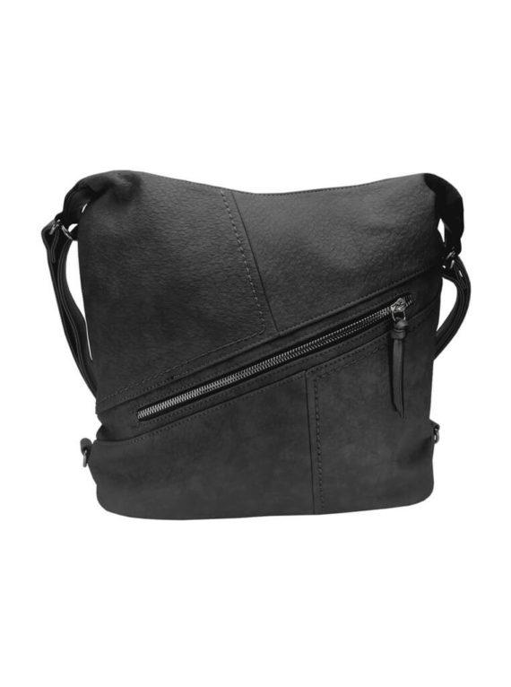 Velký dámský kabelko-batoh z eko kůže Tapple H18077 tmavě šedý přední strana
