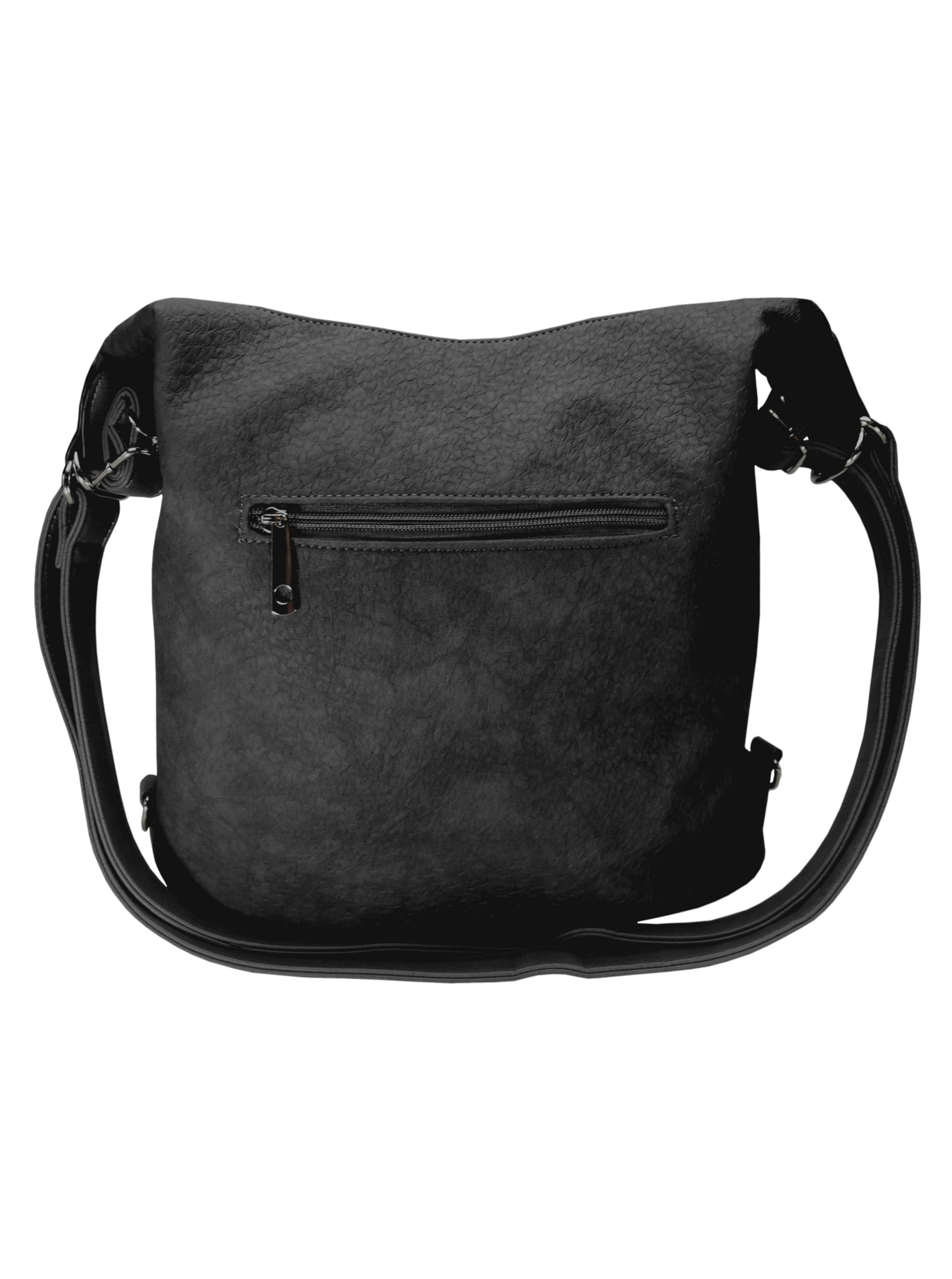 Velký dámský kabelko-batoh z eko kůže Tapple H18077 tmavě šedý zadní strana