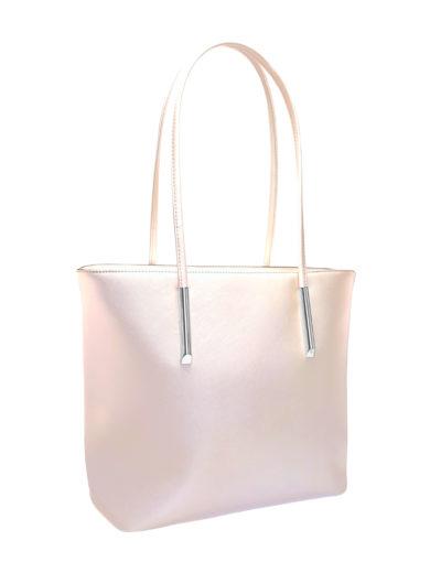 Moderní kabelka přes rameno Tapple H17429S perleťově bílá přední strana