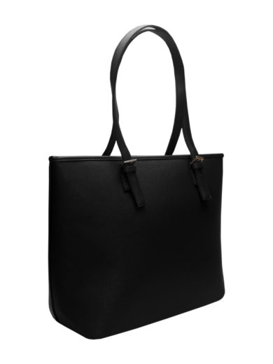 Moderní kabelka s odolným povrchem Tapple H17383-1 černá přední strana
