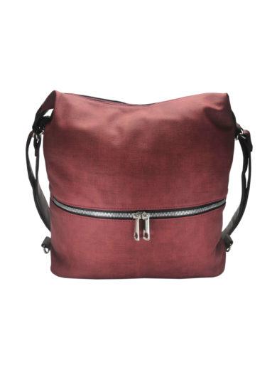 Moderní dámský kabelko-batoh z eko kůže Tapple H190010 bordó přední strana