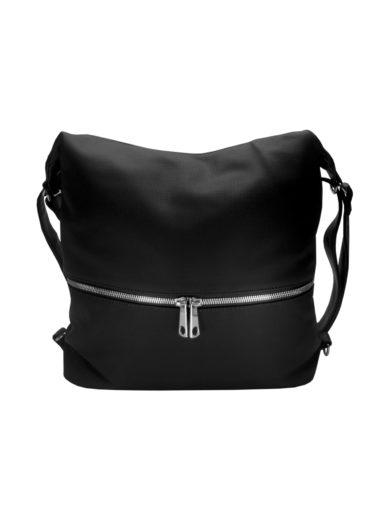 Moderní dámský kabelko-batoh z eko kůže Tapple H190010 černý přední strana