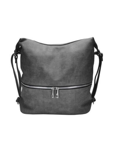 Moderní dámský kabelko-batoh z eko kůže Tapple H190010 středně šedý přední strana