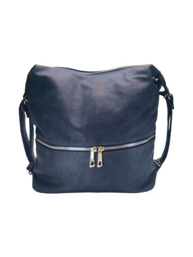 Moderní dámský kabelko-batoh z eko kůže Tapple H190010 tmavě modrý přední strana