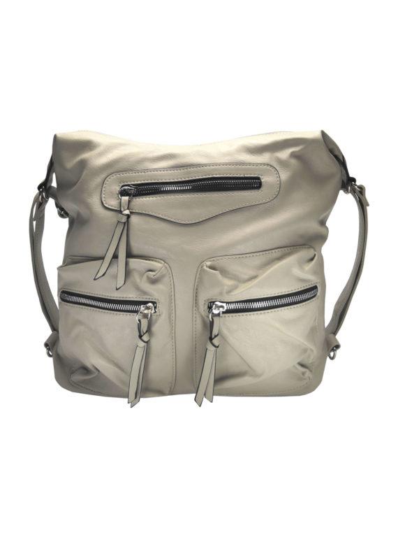 Praktický dámský kabelko-batoh s kapsami Tapple H181177 béžový přední strana