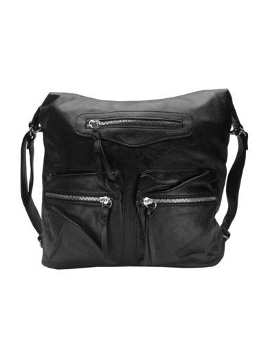 Praktický dámský kabelko-batoh s kapsami Tapple H181177 černý přední strana