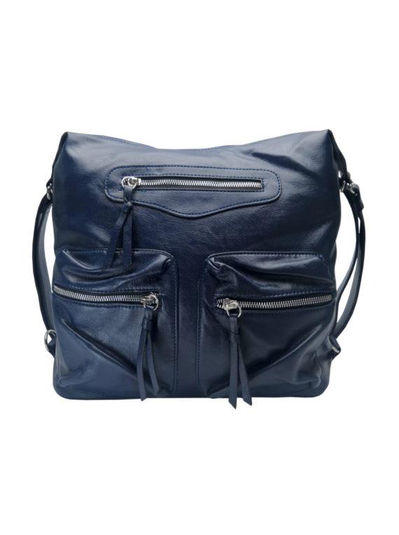 Praktický dámský kabelko-batoh s kapsami Tapple H181177 tmavě modrý přední strana