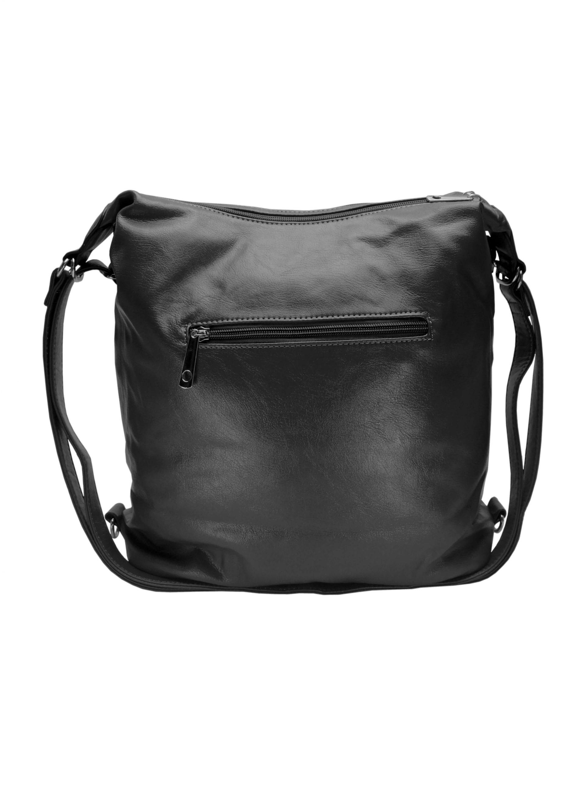 Praktický dámský kabelko-batoh s kapsami Tapple H181177 tmavě šedý zadní strana
