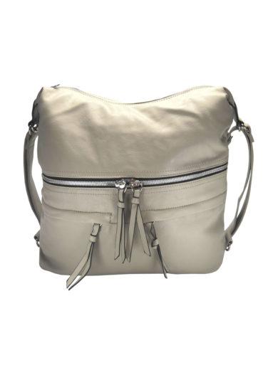 Stylový dámský kabelko-batoh z eko kůže Tapple H181175 béžový přední strana