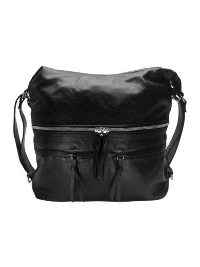 Stylový dámský kabelko-batoh z eko kůže Tapple H181175 černý přední strana