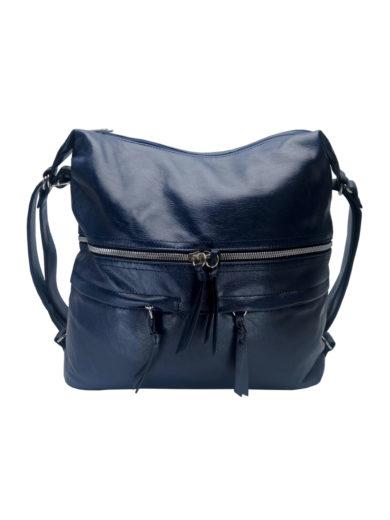 Stylový dámský kabelko-batoh z eko kůže Tapple H181175 tmavě modrý přední strana