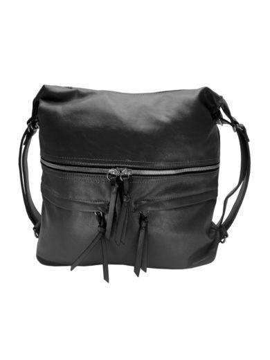 Stylový dámský kabelko-batoh z eko kůže Tapple H181175 tmavě šedý přední strana