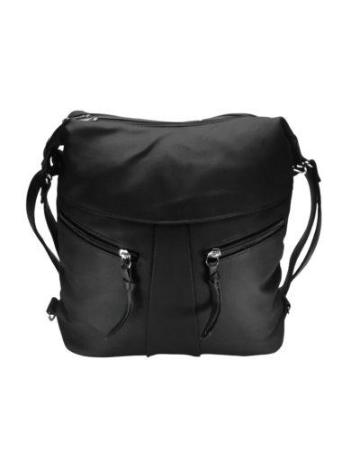 Velký dámský kabelko-batoh z eko kůže Tapple H18076 černý přední strana