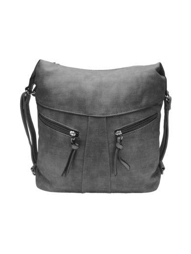 Velký dámský kabelko-batoh z eko kůže Tapple H18076 středně šedý přední strana
