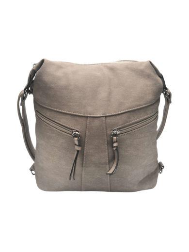Velký dámský kabelko-batoh z eko kůže Tapple H18076 světle hnědý přední strana