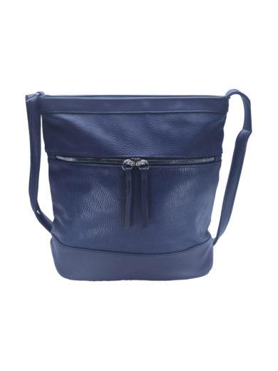 Crossbody kabelka s vodorovným zipem Tapple H17435O tmavě modrá přední strana