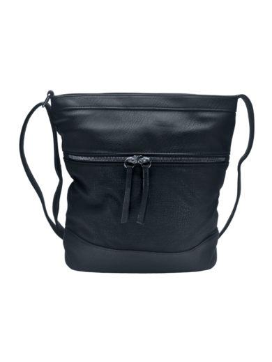 Crossbody kabelka se slušivou texturou Tapple H17435 černá přední strana