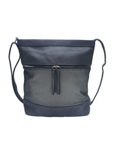 Crossbody kabelka se slušivou texturou Tapple H17435 středně šedá přední strana