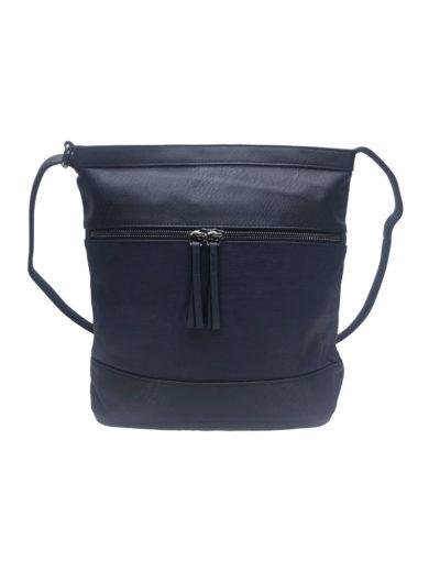 Crossbody kabelka se slušivou texturou Tapple H17435 tmavě modrá přední strana