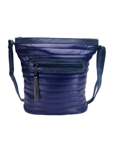 Crossbody kabelka se slušivým prošíváním Tapple H16178-1 tmavě modrá přední strana