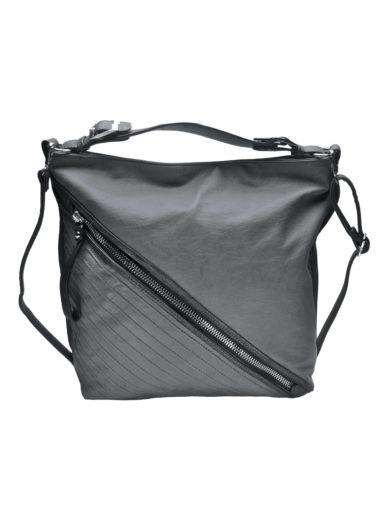 Velká crossbody kabelka se šikmým zipem Tapple H18090 světle šedá přední strana
