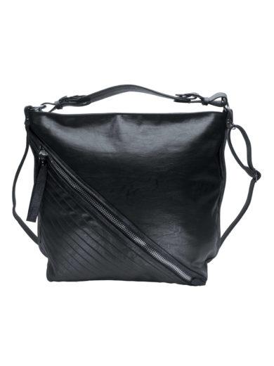 Velká crossbody kabelka se šikmým zipem Tapple H18090 černá přední strana