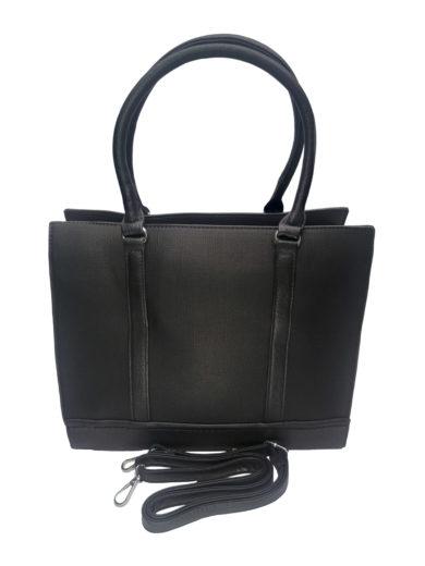 Elegantní business kabelka přes rameno, Tapple H181205, černá, přední strana