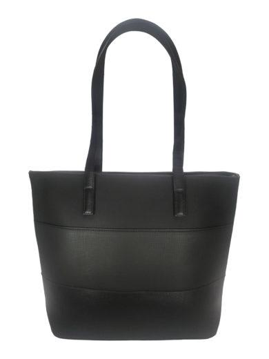 Slušivá kabelka přes rameno z příjemné eko kůže, Tapple H17421, černá, přední strana