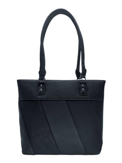 Dámská kabelka přes rameno s moderními vzory, Tapple H190027, černá, přední strana kabelky