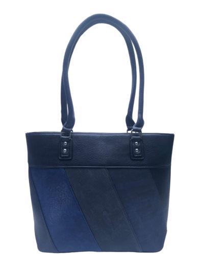 Dámská kabelka přes rameno s moderními vzory, Tapple H190027, tmavě modrá, přední strana kabelky