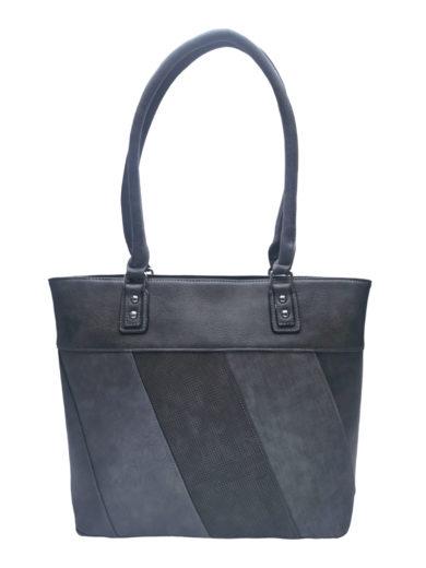 Dámská kabelka přes rameno s moderními vzory, Tapple H190027, tmavě šedá, přední strana kabelky