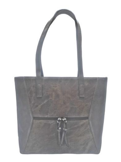Dámská kabelka přes rameno se slušivým vzorem, Tapple H181178, šedohnědá, přední strana kabelky