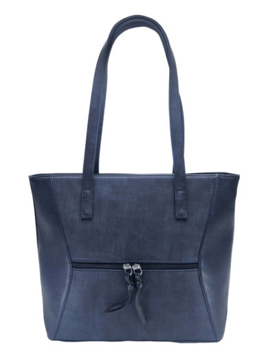 Dámská kabelka přes rameno se slušivým vzorem, Tapple H181178, tmavě modrá, přední strana kabelky