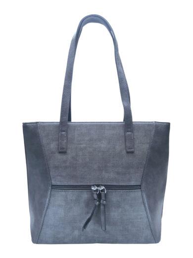 Dámská kabelka přes rameno se slušivým vzorem, Tapple H181178, tmavě šedá, přední strana kabelky