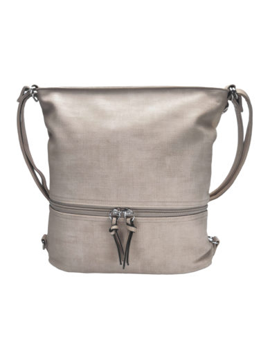 Kabelko-batoh střední velikosti se slušivou texturou, Tapple H18009-1, béžový, přední strana