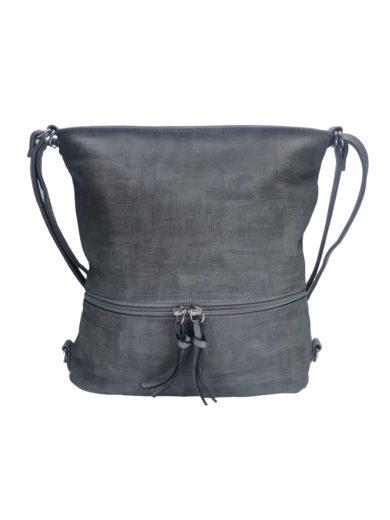 Kabelko-batoh střední velikosti se slušivou texturou, Tapple H18009-1, středně šedý, přední strana
